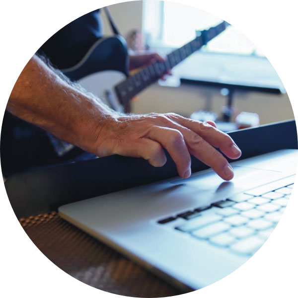 Guitareo works on most tablets, laptops, desktops, and smart phones
